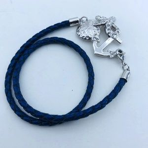Tommy Bahama Leather/Crystal Wrap Bracelet